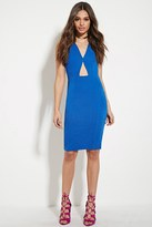 Forever 21 FOREVER 21+ Paint It Red Cutout Dress