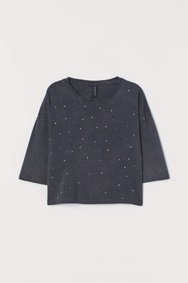H&M Sparkly-stone cropped top