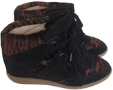 Isabel Marant Leopard print Pony-style calfskin Trainers Bobby