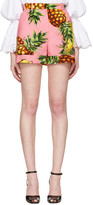 Dolce & Gabbana Pink Pineapple Shorts