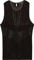Roberto Cavalli Pointelle-trimmed stretch-knit tank