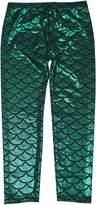 Simplicity Children Mermaid Scale Print Full Length Leggings Pants