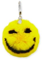 Rebecca Minkoff Smile Rabbit-Fur Pompom Bag Charm