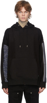 ANDERSSON BELL Black and Blue Contrasting Seoul Hoodie