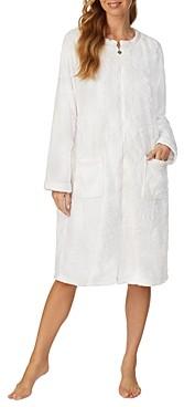 Eileen West Floral Plush Fleece Robe