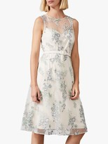Phase Eight Lia Floral Embroidered Dress, Multi