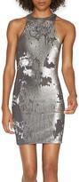 Halston Sequin Racerback Dress