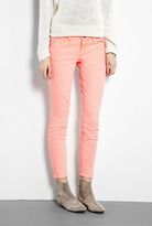 CURRENT/ELLIOTT Washed Neon Orange Stiletto Skinny