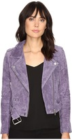Blank NYC Real Suede Moto Jacket in Purple Haze Women's Coat