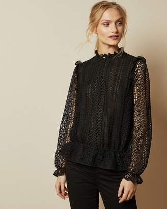 Ted Baker Zip Up Lace Top