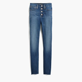 "J.Crew 10"" highest-rise raw hem skinny jean with button fly"