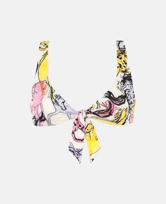 Stella McCartney horse print bikini top