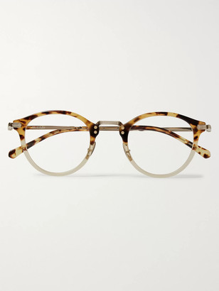 Mr. Leight Stanley C Round-Frame Tortoiseshell Acetate And Gold-Tone Titanium Optical Glasses