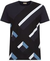 Burberry Graphic Check Cotton T-Shirt