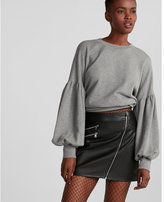 Express petite (Minus the) leather asymmetrical moto skirt