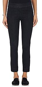 Helmut Lang WOMEN'S DENIM CROP FLARED PANTS - RNSED BLK SIZE 24