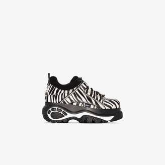 Buffalo David Bitton Black and white zebra print flatform sneakers