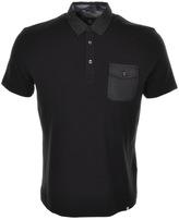 Pretty Green Decima Pocket Polo T Shirt Black