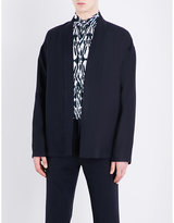 Etro Open-front Linen And Wool-blend Kimono Jacket