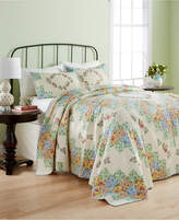 Martha Stewart Collection CLOSEOUT! Martha Stewart Collection Cotton Coneflower Diamond Quilted Twin Bedspread, Created for Macy's