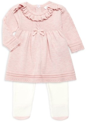 Miniclasix Baby Girl's Sweater Dress & Tights Set