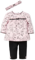 Little Me 3-Pc. Cotton Headband, Toile-Print Tunic and Leggings Set, Baby Girls (0-24 months)