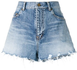 Saint Laurent Frayed Shorts
