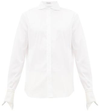 Brunello Cucinelli Cutaway-collar Cotton-blend Shirt - White
