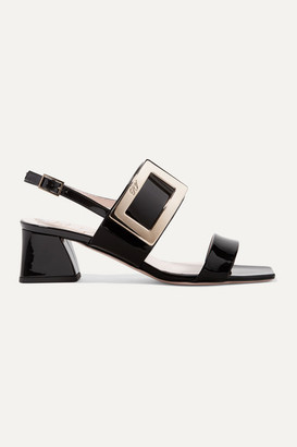 Roger Vivier Gommettine Patent-leather Slingback Sandals - Black