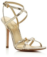 Michael Kors Jennie Metallic Strappy High Sandals