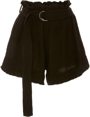 Bassike Belted Linen Shorts