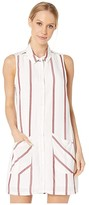 BCBGeneration Stripe Shirtdress WBO6227153 (Optic White) Women's Dress