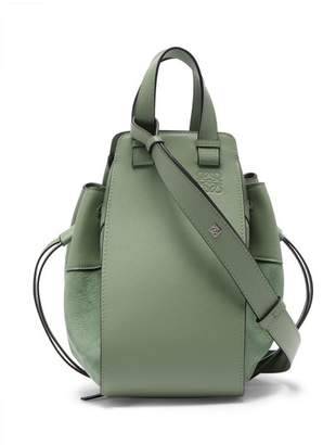 Loewe Hammock Small Leather Bag - Womens - Light Green