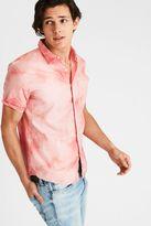 American Eagle Outfitters AE Tie-Dye Short Sleeve Poplin Shirt