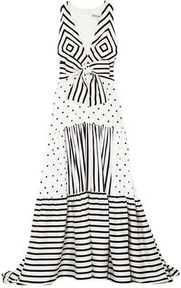 Silvia Tcherassi Selvino Tiered Printed Silk-blend Maxi Dress