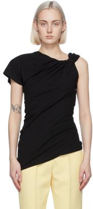 Alexander McQueen Black Knotted T-Shirt