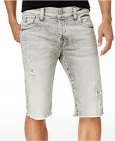 "True Religion Men's Rocco Skinny-Fit Destructed Cotton 13"" Shorts"
