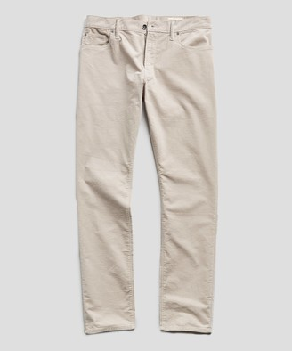 Todd Snyder Slim Fit 5-Pocket Italian Stretch Cord in Stone