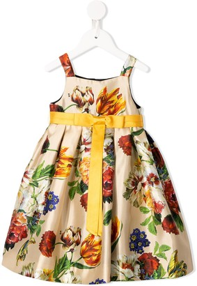 Dolce & Gabbana Kids Floral Party Dress