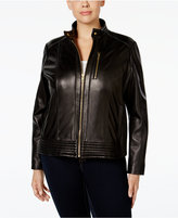 MICHAEL Michael Kors Size Leather Bomber Jacket