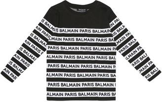 Balmain Kids Striped cotton T-shirt