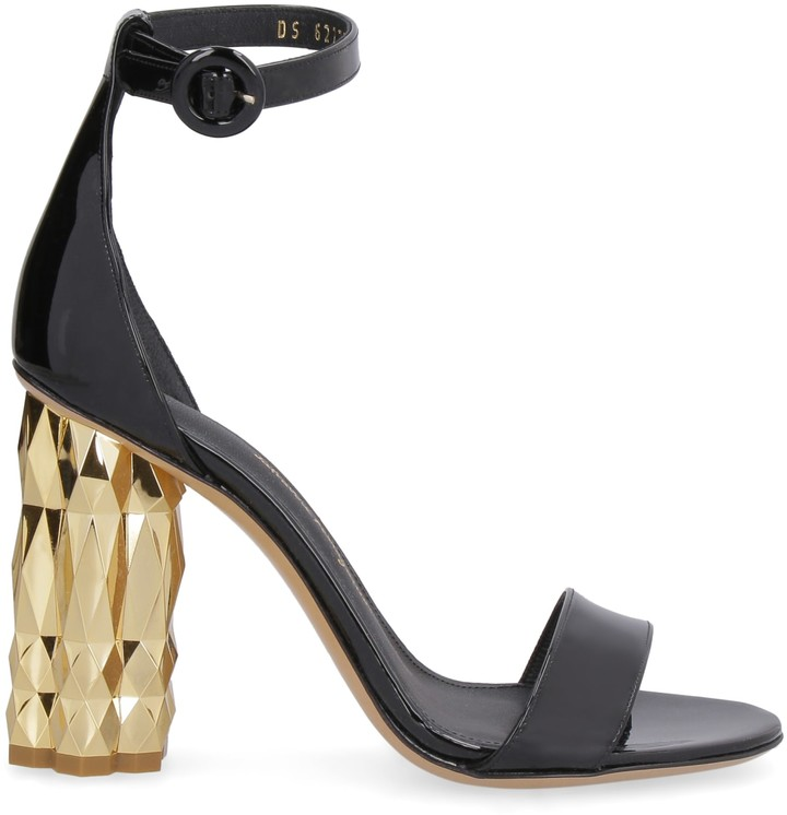f3e695f4f45 Sculpture Heels Patent Leather Sandals