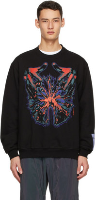McQ Black and Multicolor Relaxed Sweatshirt
