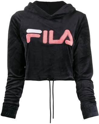 Fila velvet logo cropped hoody
