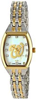 Game Time Women's MLB-WCL-WAS World Class Two-Tone Stones Analog Display Japanese Quartz Silver Watch