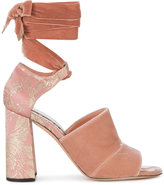 Rochas open toe block heel sandals