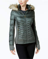 MICHAEL Michael Kors Faux-Fur-Trim Mixed-Media Puffer Coat