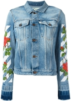 Off-White Roses Embroidery Denim Jacket