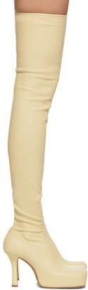 Bottega Veneta Yellow Nappa The OTK Tall Boots