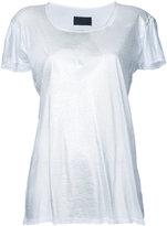 RtA slit neck T-shirt - women - Cotton/Cashmere - XS